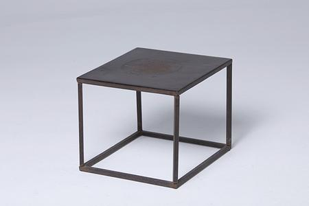 square iron small table
